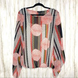 Alfani sheer floral top. Attached under tank,